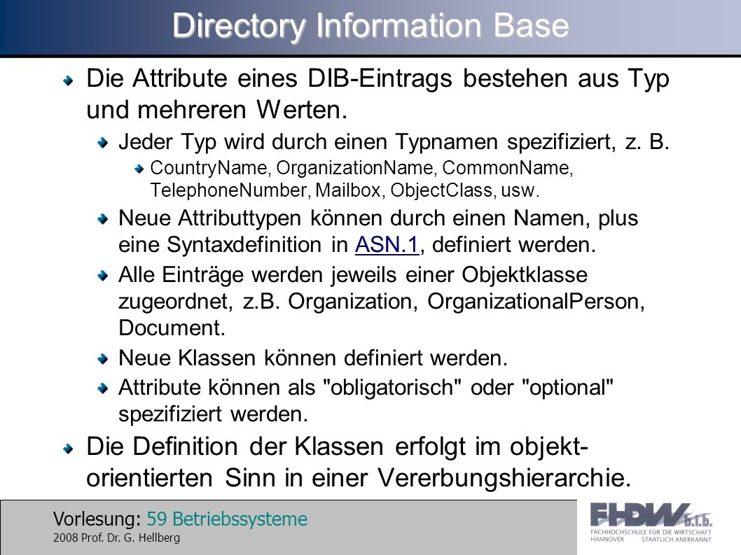 Directory Information Base
