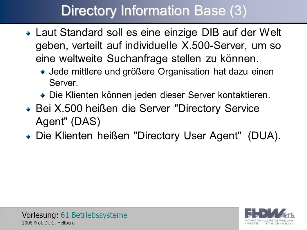 Directory Information Base (3)