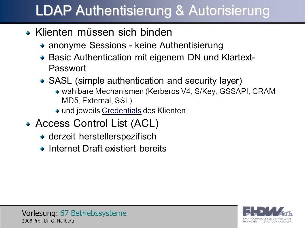 LDAP Authentisierung & Autorisierung