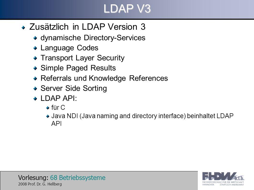 LDAP V3 Zusätzlich in LDAP Version 3 dynamische Directory-Services