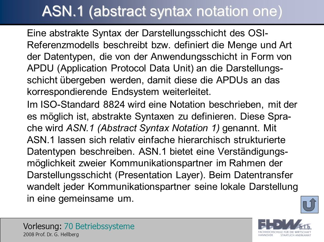 ASN.1 (abstract syntax notation one)