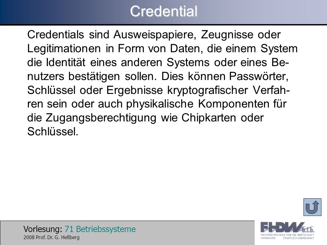 Credential