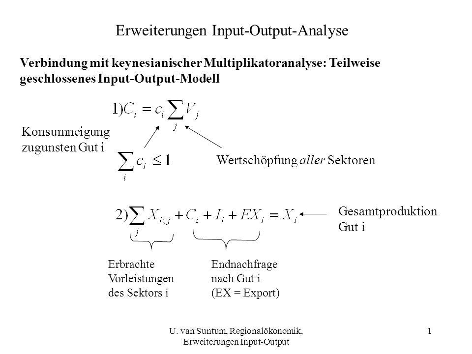 Erweiterungen Input-Output-Analyse