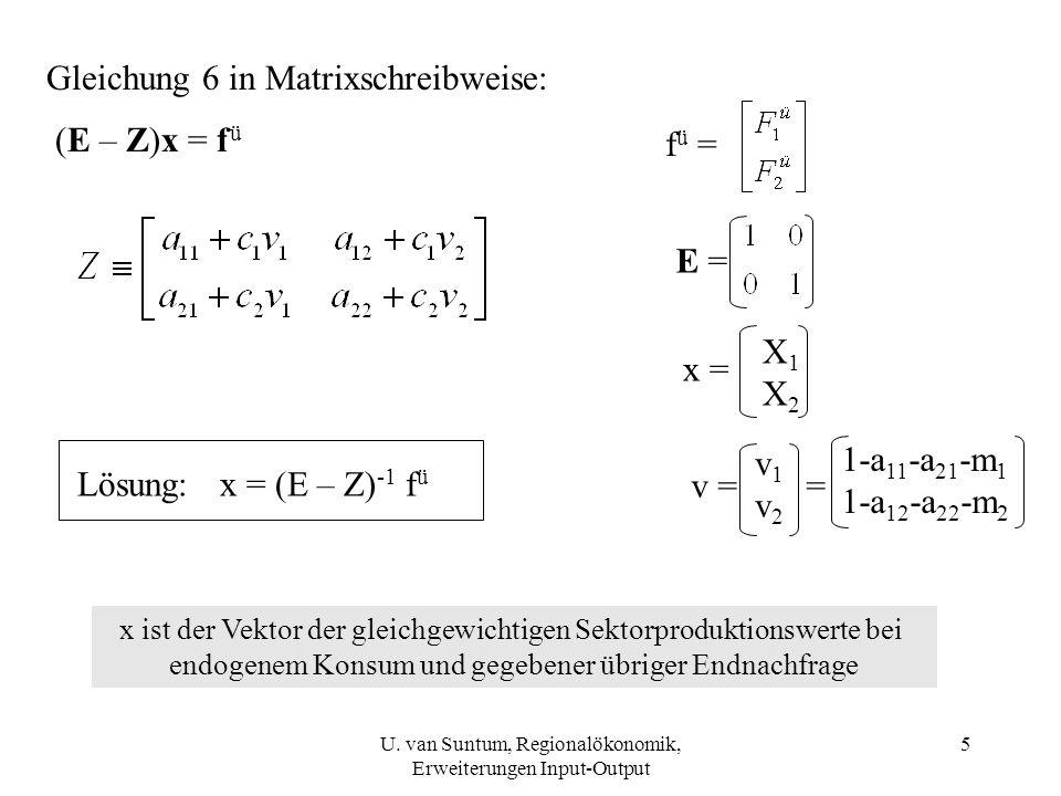 Gleichung 6 in Matrixschreibweise: