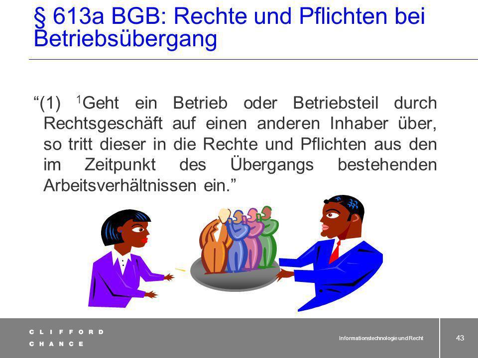 § 613a BGB: Rechte und Pflichten bei Betriebsübergang