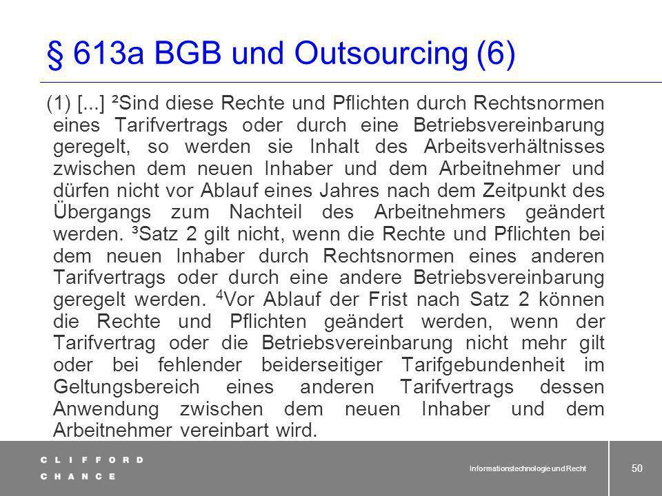 § 613a BGB und Outsourcing (6)