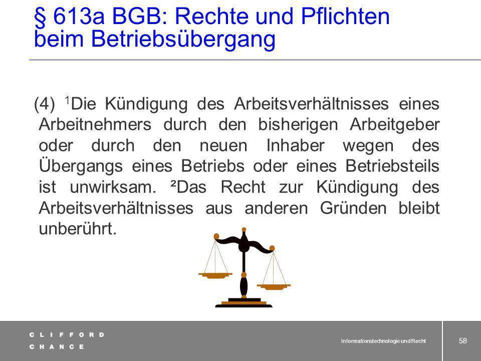 § 613a BGB: Rechte und Pflichten beim Betriebsübergang