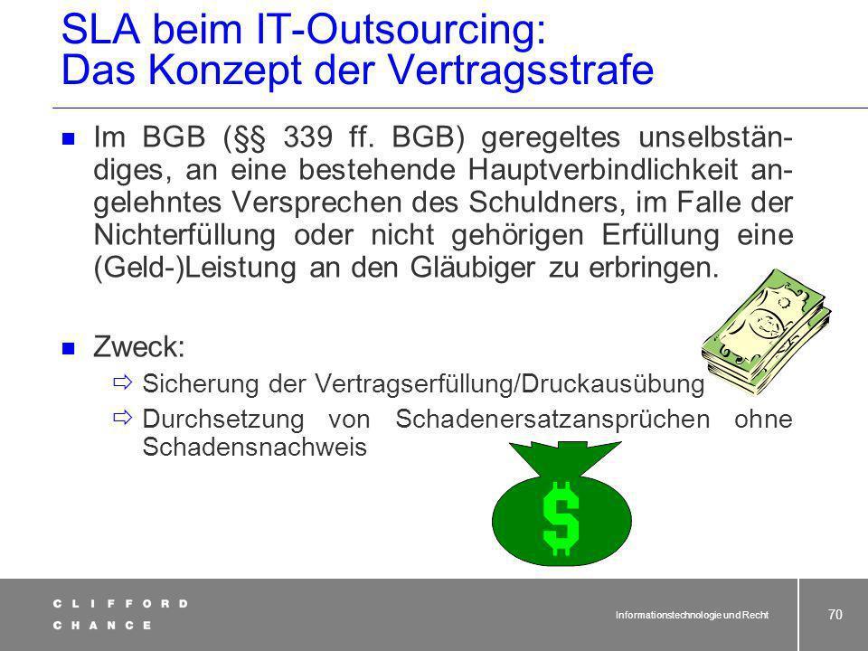 SLA beim IT-Outsourcing: Das Konzept der Vertragsstrafe