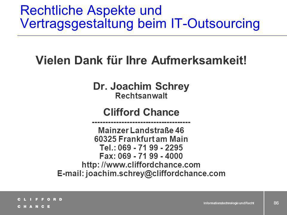 Rechtliche Aspekte und Vertragsgestaltung beim IT-Outsourcing
