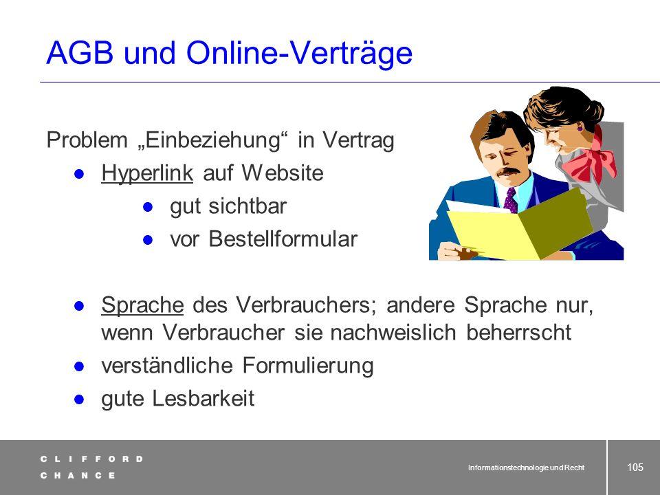 AGB und Online-Verträge