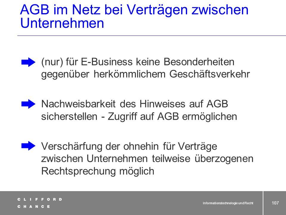 AGB im Netz bei Verträgen zwischen Unternehmen