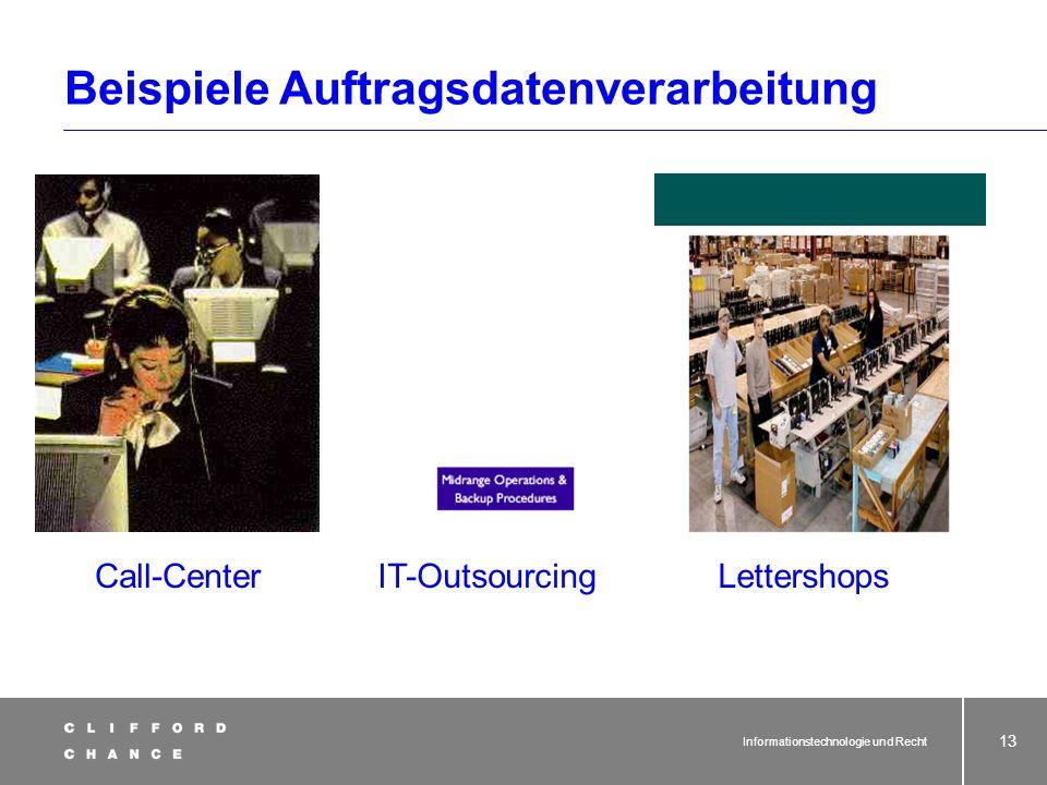 Beispiele Auftragsdatenverarbeitung