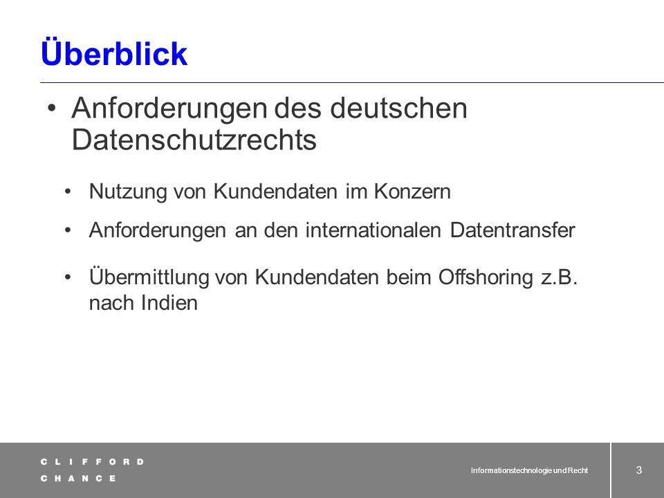 Überblick Anforderungen des deutschen Datenschutzrechts