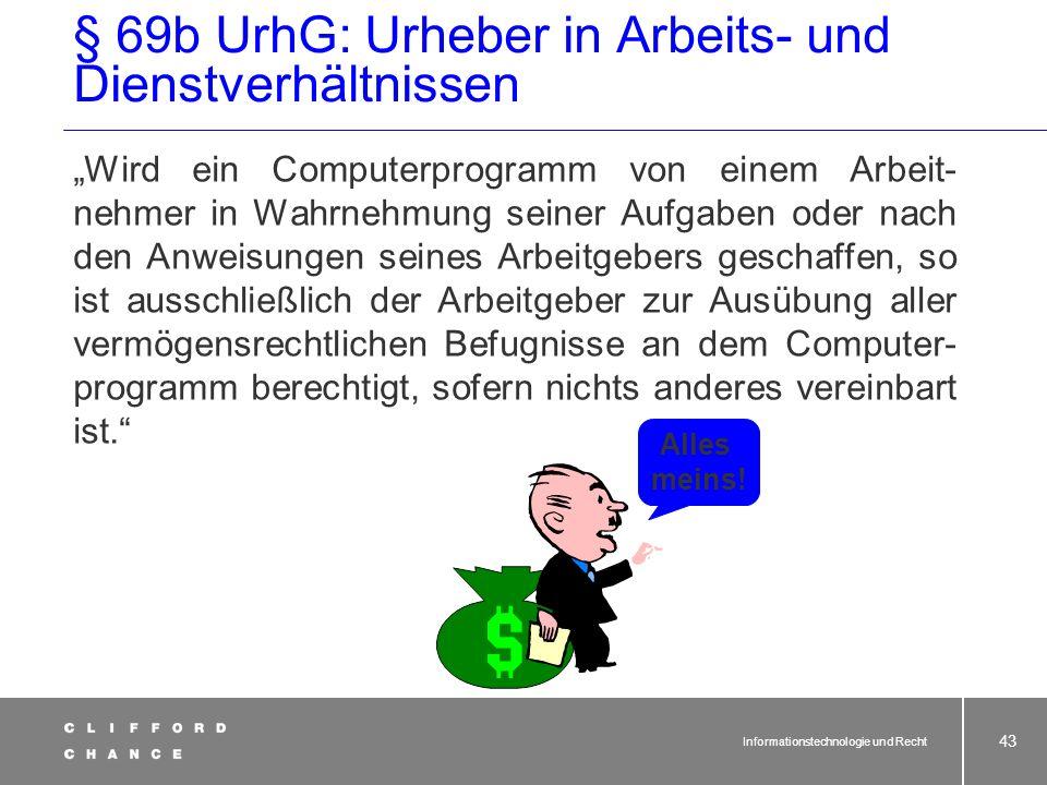 § 69b UrhG: Urheber in Arbeits- und Dienstverhältnissen