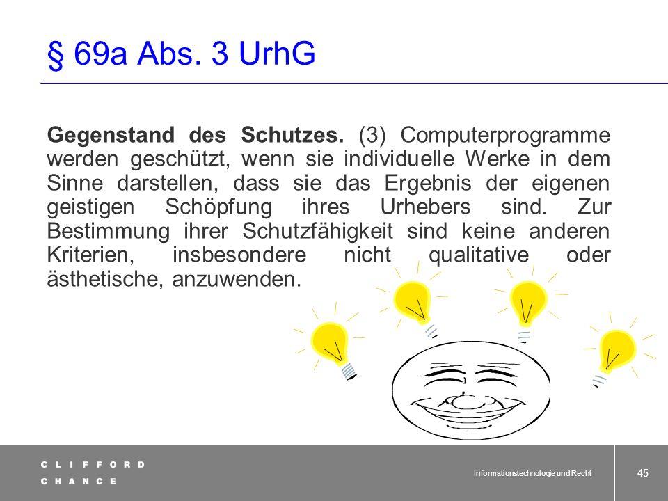 § 69a Abs. 3 UrhG