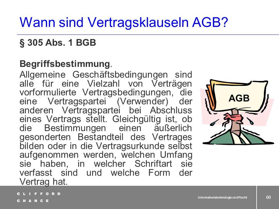 Wann sind Vertragsklauseln AGB