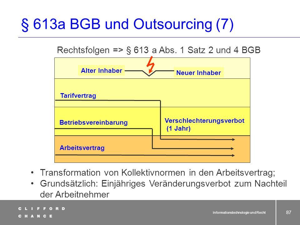 § 613a BGB und Outsourcing (7)