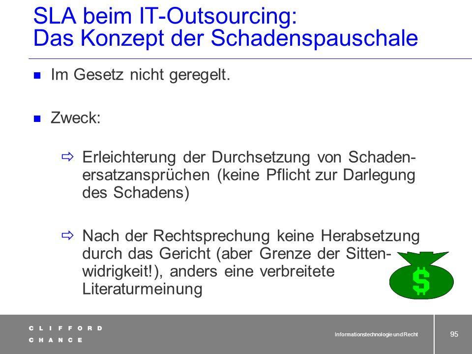 SLA beim IT-Outsourcing: Das Konzept der Schadenspauschale
