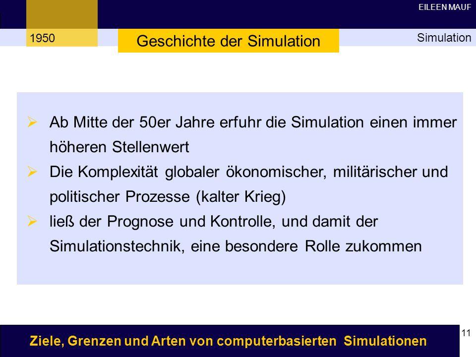 Geschichte der Simulation