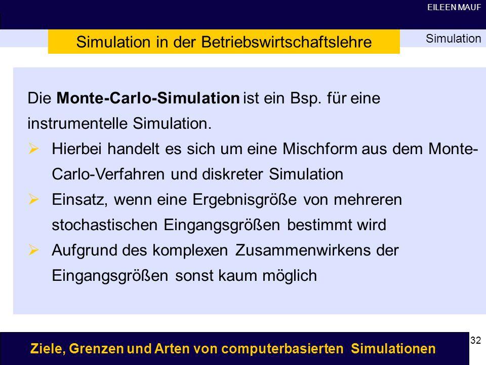 Simulation in der Betriebswirtschaftslehre