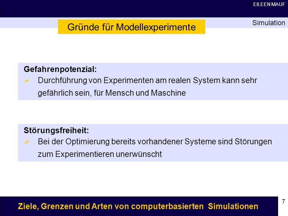 Gründe für Modellexperimente