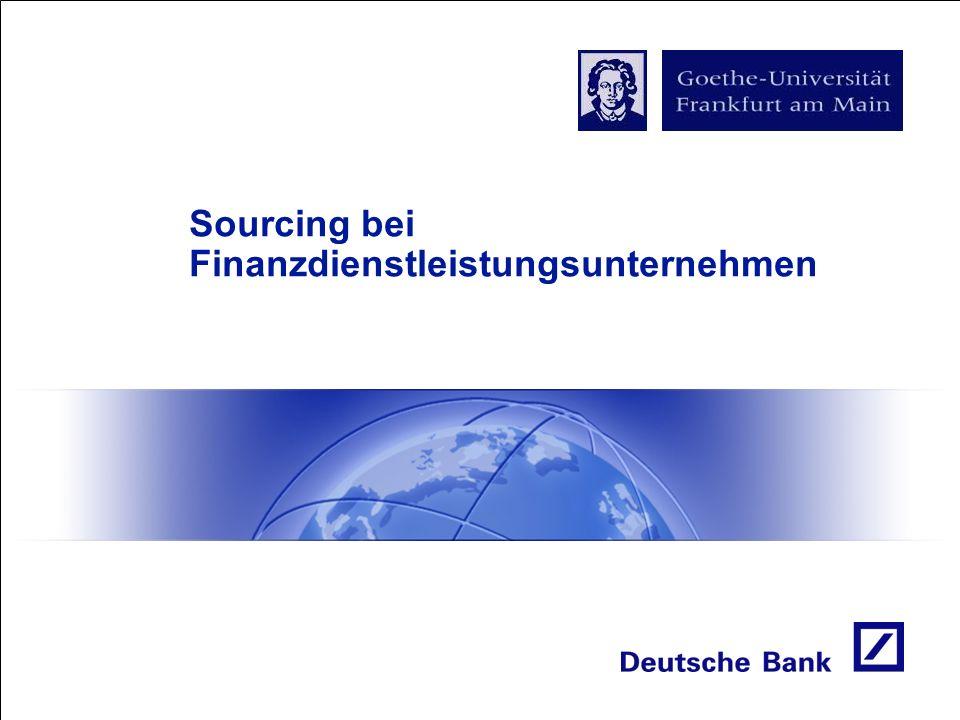Sourcing bei Finanzdienstleistungsunternehmen