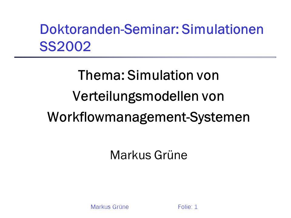 Doktoranden-Seminar: Simulationen SS2002