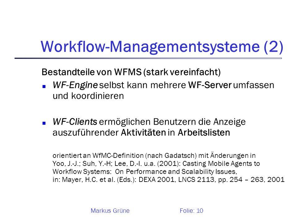 Workflow-Managementsysteme (2)