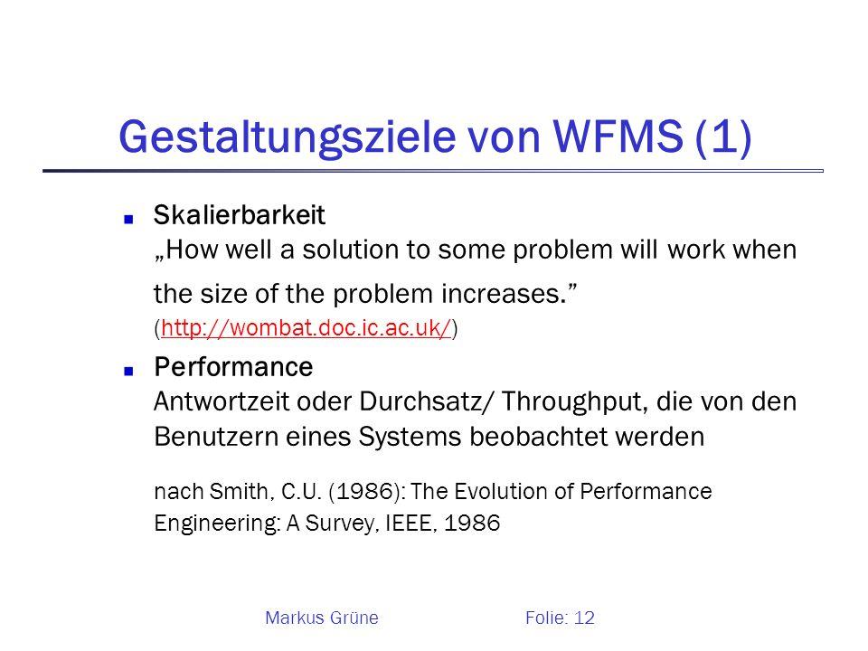 Gestaltungsziele von WFMS (1)