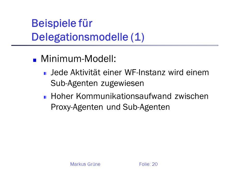 Beispiele für Delegationsmodelle (1)