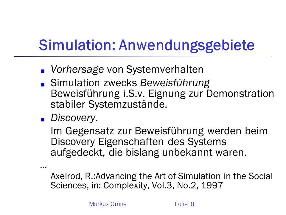 Simulation: Anwendungsgebiete