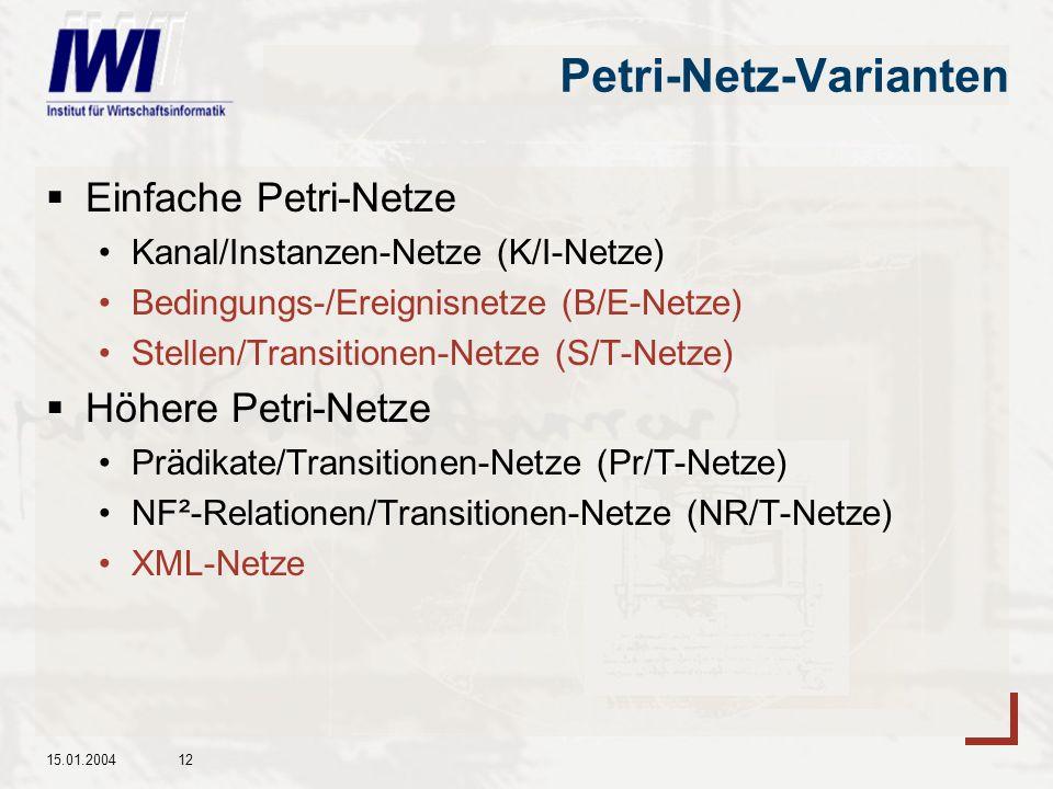Petri-Netz-Varianten