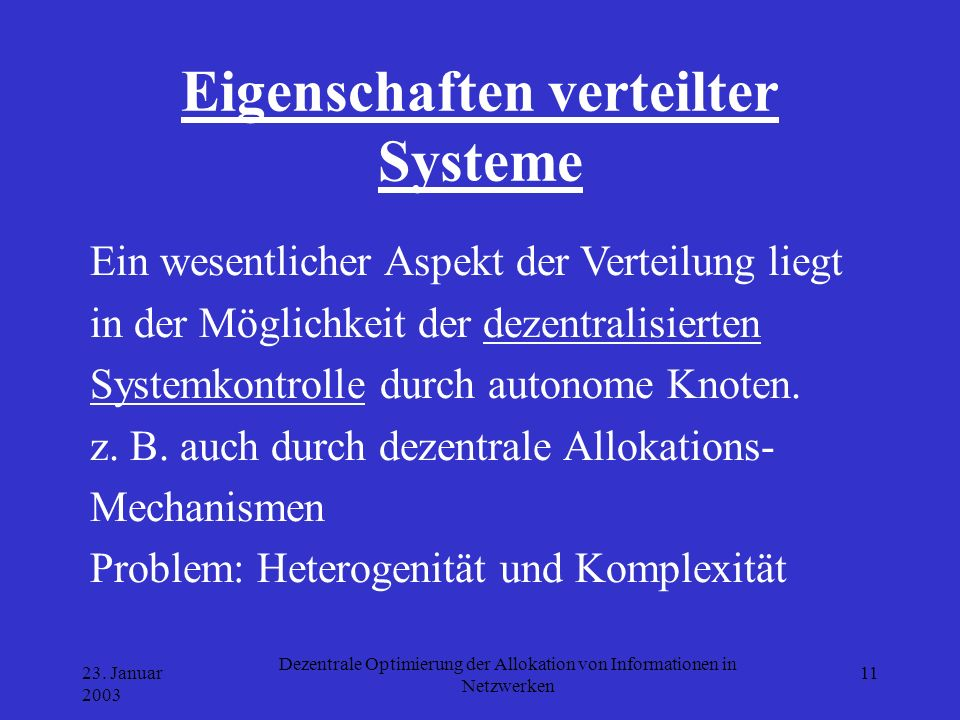 Eigenschaften verteilter Systeme