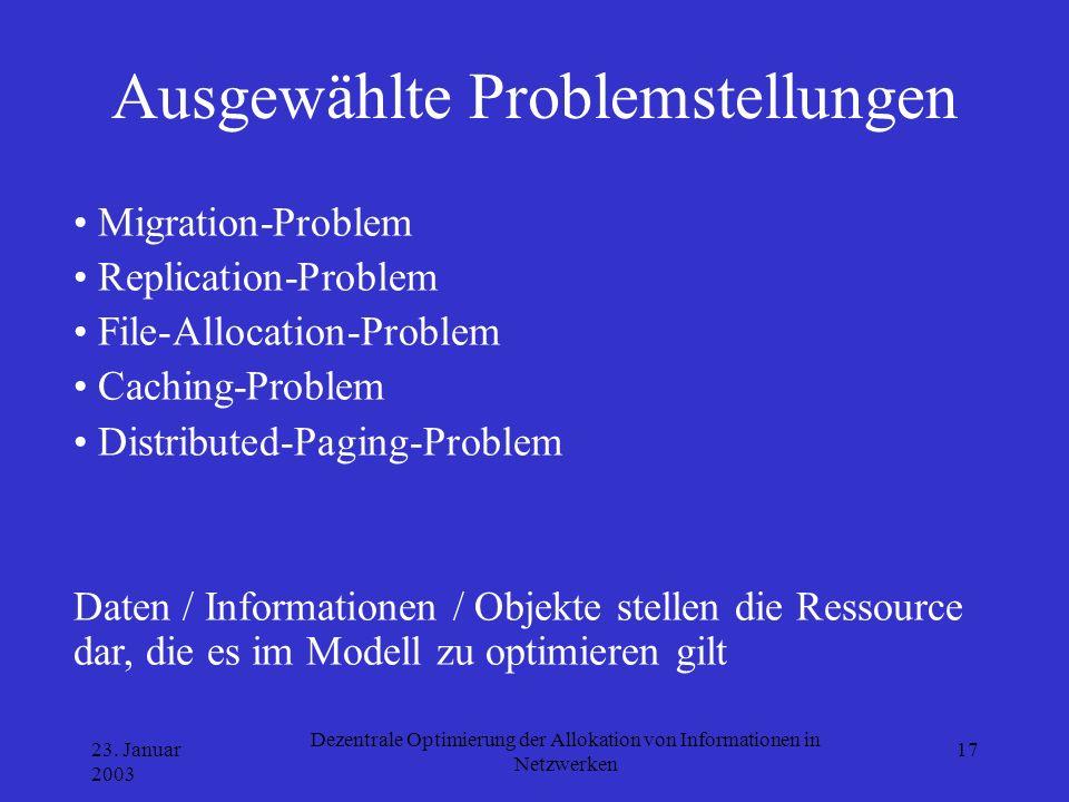 Ausgewählte Problemstellungen