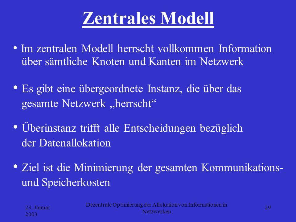 Dezentrale Optimierung der Allokation von Informationen in Netzwerken
