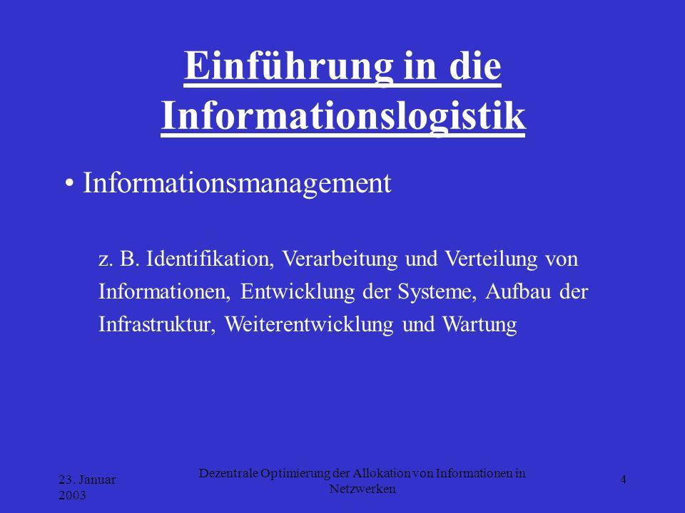 Einführung in die Informationslogistik