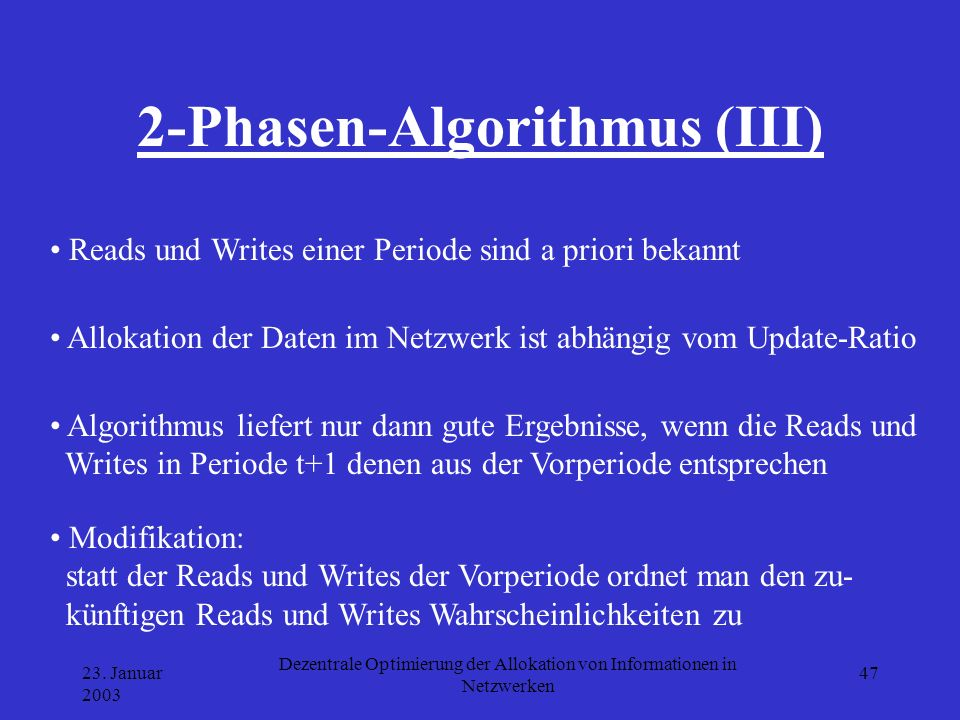 2-Phasen-Algorithmus (III)