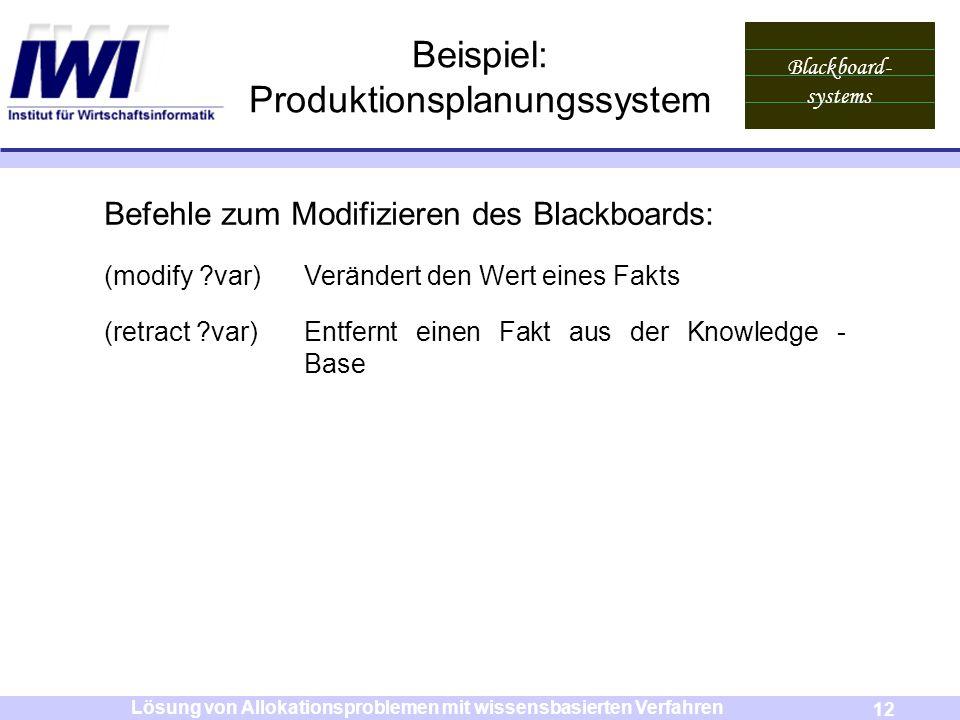 Beispiel: Produktionsplanungssystem