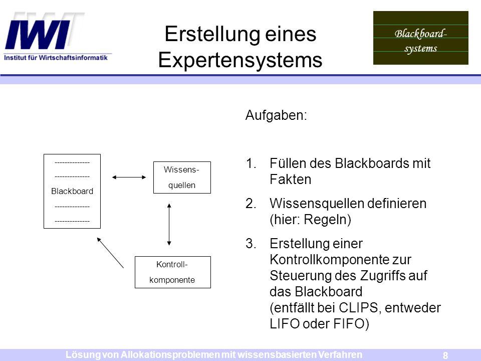 Erstellung eines Expertensystems