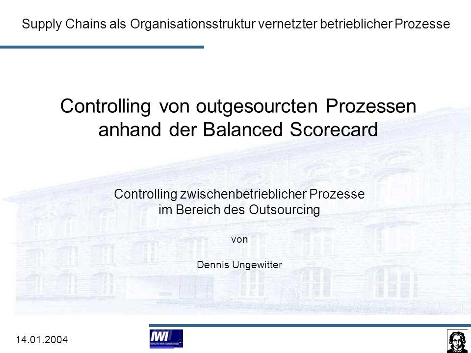 Controlling von outgesourcten Prozessen anhand der Balanced Scorecard