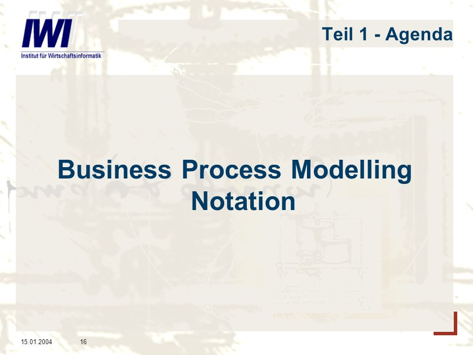 Business Process Modelling Notation