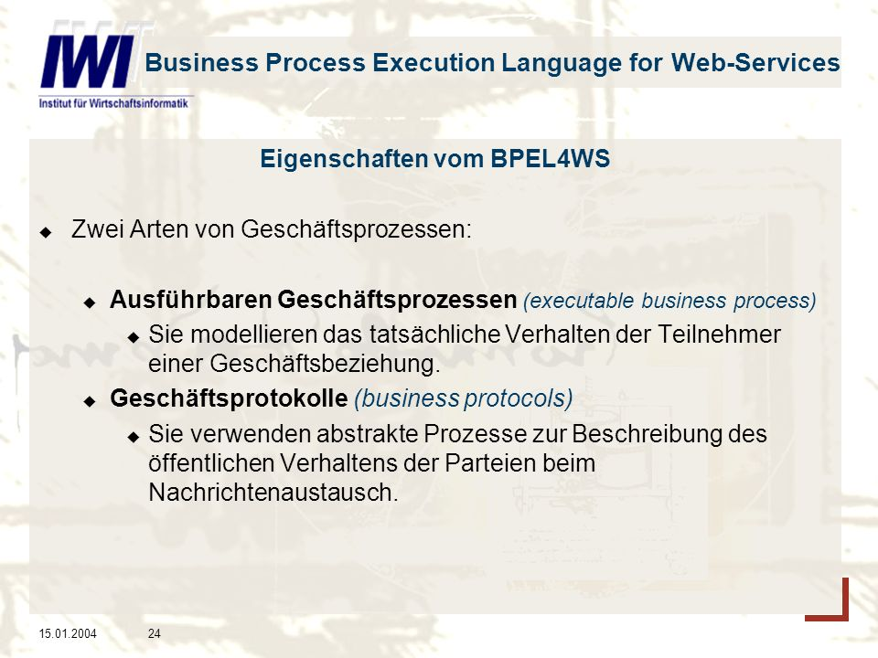 Business Process Execution Language for Web-Services