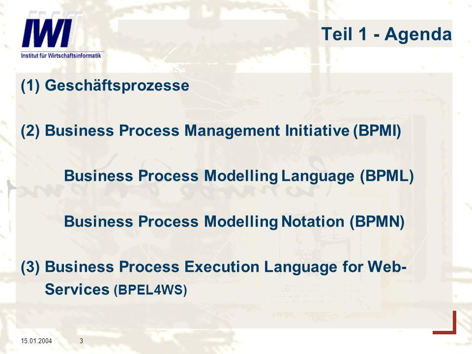 Teil 1 - Agenda Geschäftsprozesse