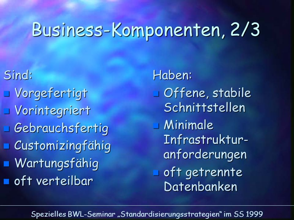 Business-Komponenten, 2/3