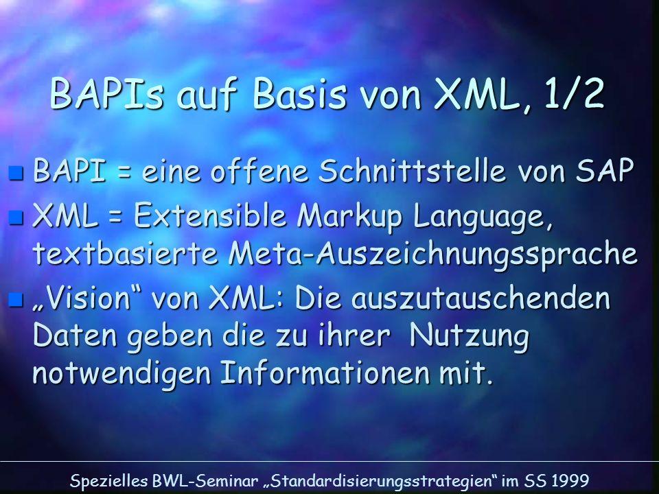 BAPIs auf Basis von XML, 1/2