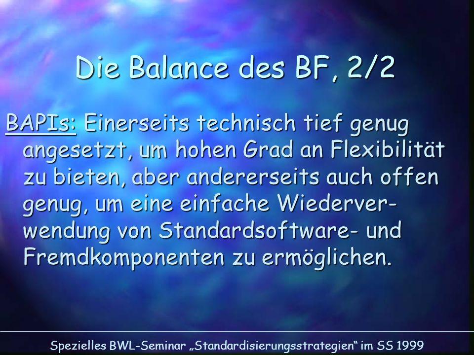 Die Balance des BF, 2/2