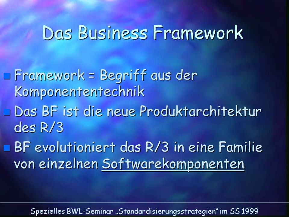 Das Business Framework