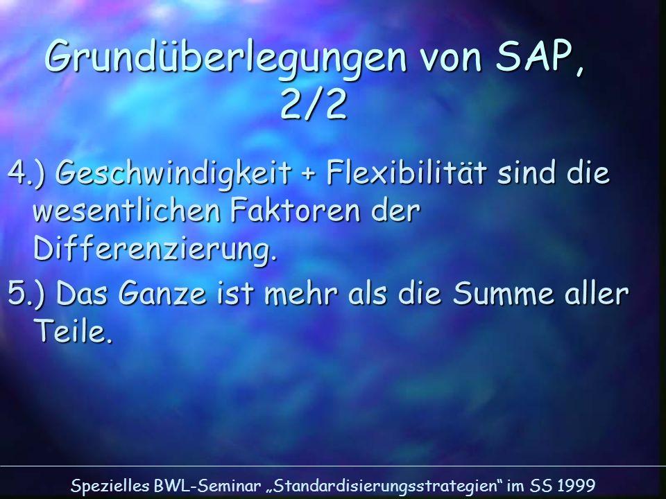 Grundüberlegungen von SAP, 2/2