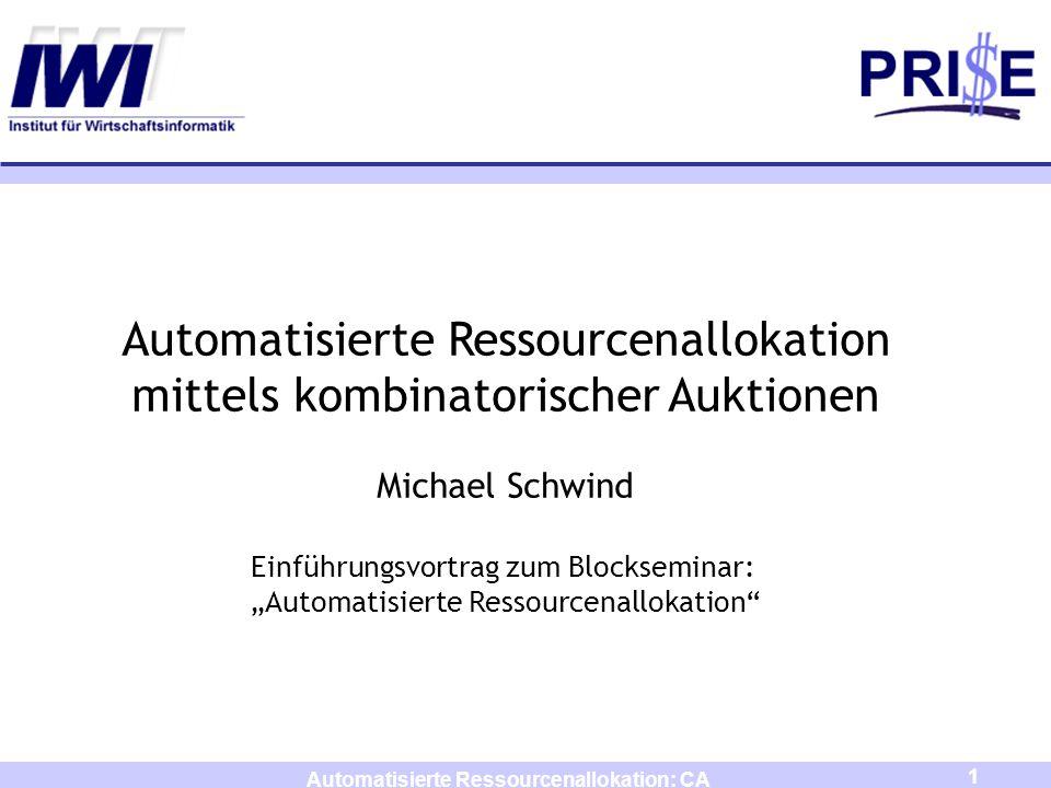 Automatisierte Ressourcenallokation: CA