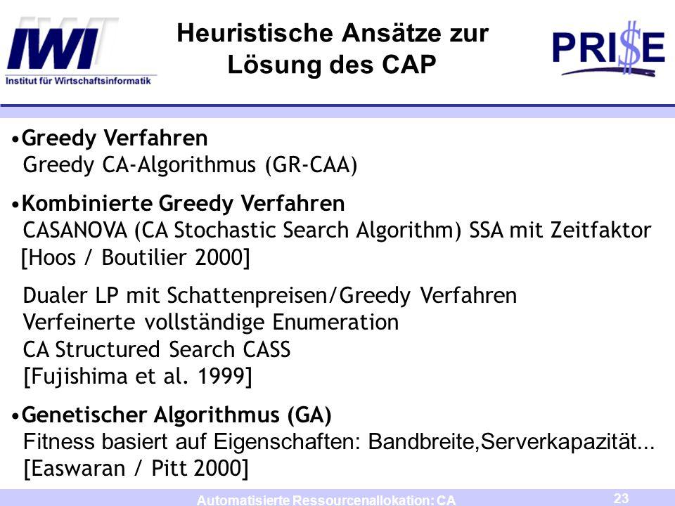 Heuristische Ansätze zur Lösung des CAP